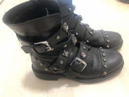 Humanic Halfhoge laarzen zwart-zilver