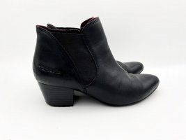 Leder Stiefel schwarz von Tamaris Gr 37
