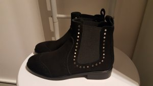 Marc Cain Slip-on Booties black-gold-colored