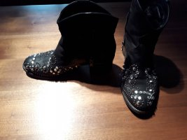 Vero Cuoio Western Booties black leather