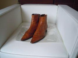 Tamaris Zipper Booties cognac-coloured