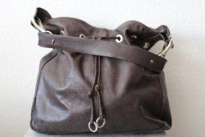 Made in Italy Bolsa de hombro color bronce Cuero