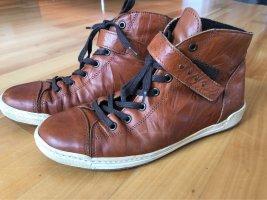 Bama Winter Boots brown-cognac-coloured