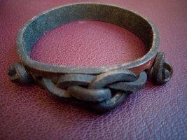 Leather Bracelet brown-dark brown leather