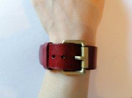 Lederen armband bordeaux