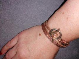 Liebeskind Berlin Bracelet en cuir or rose