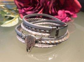 sweet 7 Leather Bracelet silver-colored-light grey