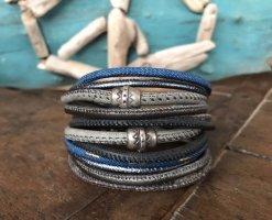 Handmade Bracelet en cuir multicolore