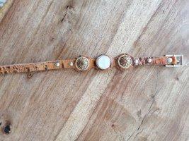 Bracelet en cuir cognac