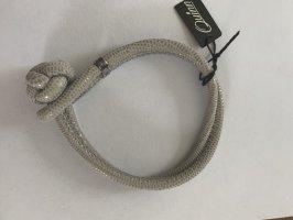 Bracelet en cuir gris clair cuir