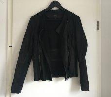 Selected Femme Leren blazer zwart