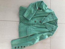 Orwell Leather Blazer lime-green-sage green