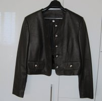 Leather Blazer brown leather