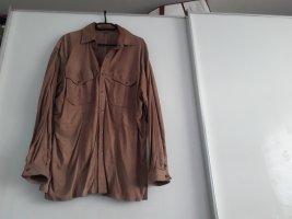 Valentino Blouse en cuir brun sable
