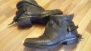 A.S.98 Low boot gris-gris foncé cuir