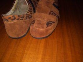 vitaform Zapatillas con velcro coñac Cuero