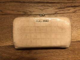 Miu Miu Wallet dusky pink-gold-colored