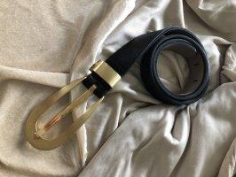ohne Marke Leather Belt black