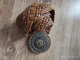 Hallhuber Cinturón de cuero marrón Cuero