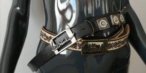 Luis Trenker Cinturón de cuero multicolor