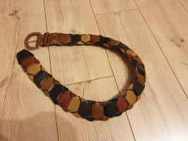 beltart Ceinture en cuir brun-orange cuir