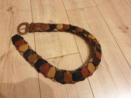 beltart Cinturón de cuero marrón-naranja
