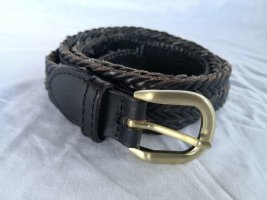 H&M Leather Belt black-gold-colored leather
