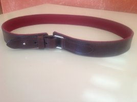 Hugo Boss Leather Belt brown red-brick red leather