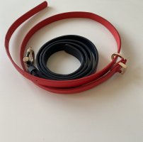 Massimo Dutti Leather Belt red-slate-gray