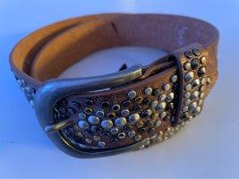 Cintura di pelle bronzo-marrone