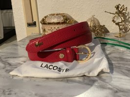 Lacoste Leather Belt red