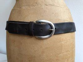 Liebeskind Berlin Leather Belt silver-colored-dark brown leather