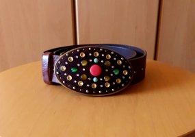 Genuine Leather Cinturón de cuero multicolor Cuero
