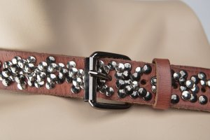Cowboysbelt Leather Belt dark orange-cognac-coloured leather