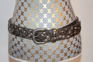NoName Studded Belt silver-colored leather