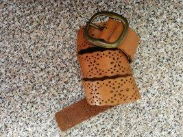 Cinturón de cuero coñac