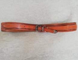 Mustang Leather Belt brown-cognac-coloured