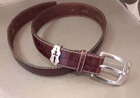 Vera Pelle Leather Belt brown