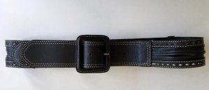 Esprit Cinturón de cuero negro