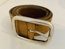 Mustang Leather Belt cognac-coloured leather