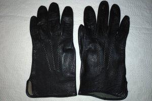 Unbekannte Marke Leather Gloves black leather