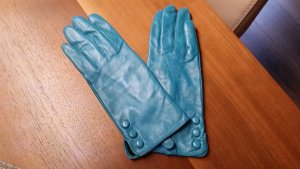 Leather Gloves petrol leather