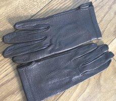 Guantes de cuero marrón-negro Cuero