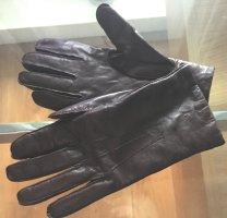 Leren handschoenen zwart bruin Leer