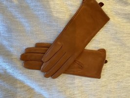 Leather Gloves cognac-coloured