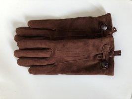 Leren handschoenen cognac-bruin