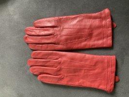 Esmara Guantes de cuero rojo