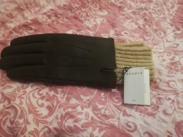 Sandro Paris Leather Gloves brown