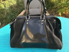 Tosca blu Bowling Bag black leather