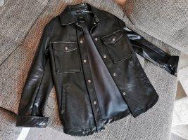 Bershka Leather Shirt multicolored